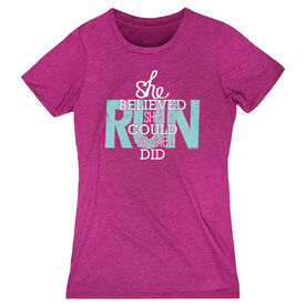 Women's Everyday Runners Tee She Believed She Could So She Did