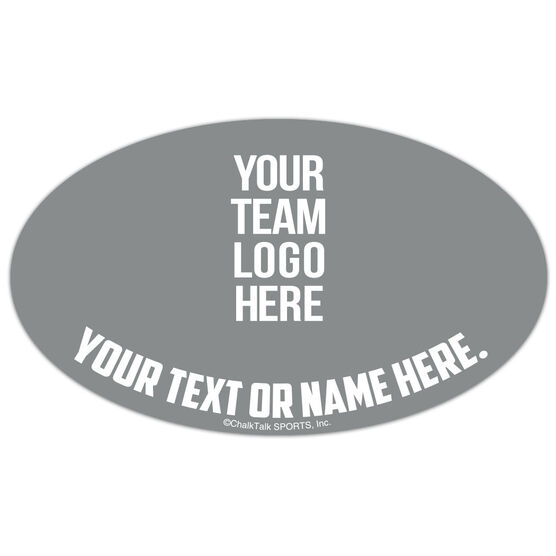Rugby Oval Car Magnet Your Logo