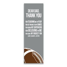 "Football 12.5"" X 4"" Removable Wall Tile - Dear Dad (Vertical)"