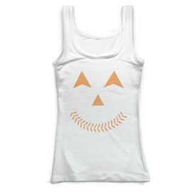 Baseball Vintage Fitted Tank Top - Jack O' Lantern