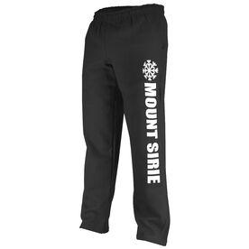 Skiing & Snowboarding Fleece Sweatpants - Snowflake Your Text Here