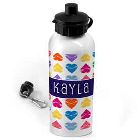 Lacrosse 20 oz. Stainless Steel Water Bottle Personalized Heart Pattern With Name