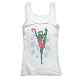 Cheerleading Vintage Fitted Tank Top - Christmas Cheer