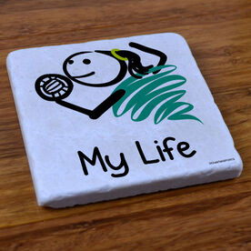 My Life Volleyball (Female) - Stone Coaster
