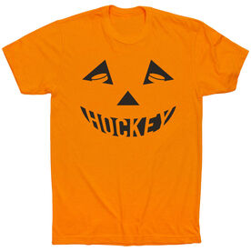 Hockey Short Sleeve Tee - Hockey Pumpkin Face