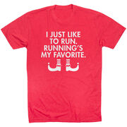 Running Short Sleeve T-Shirt - Running's My Favorite (Simple)