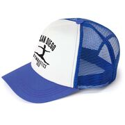 Gymnastics Trucker Hat - Team Name With Curved Text