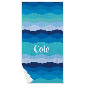 Personalized Premium Beach Towel - Making Waves