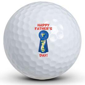 #1 Dad Ribbon Golf Ball