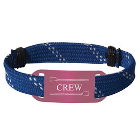 Crew Lace Bracelet Crew with 2 Oars Adjustable Sport Lace Bracelet