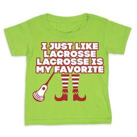Guys Lacrosse Toddler Short Sleeve Tee - Lacrosse's My Favorite