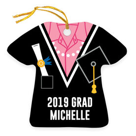 Personalized Ornament - Graduation Outfit Shirt With Pearls