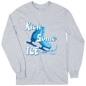 Figure Skating Tshirt Long Sleeve Kick Some Ice
