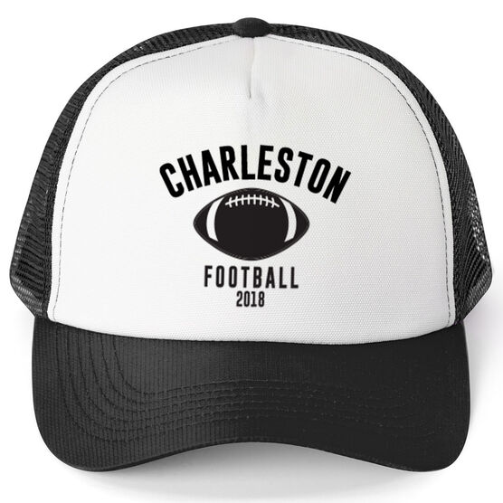 Football Trucker Hat - Team Name With Curved Text
