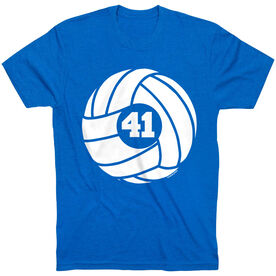 Volleyball T-Shirt Short Sleeve Volleyball With Number