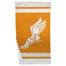 Track and Field Beach Towel Winged Foot