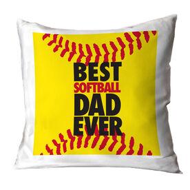 Softball Pillow Best Dad Ever