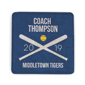 Softball Stone Coaster - Personalized Softball Coach