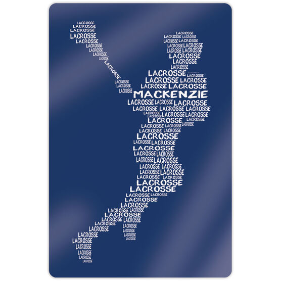 """Girls Lacrosse 18"""" X 12"""" Aluminum Room Sign - Personalized Words Girl"""