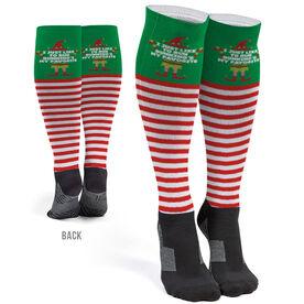 Running Printed Knee-High Socks - Running's My Favorite