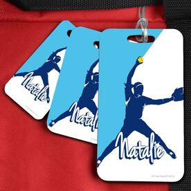 Softball Bag/Luggage Tag Personalized Softball Pitcher