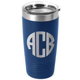 Personalized 20 oz. Double Insulated Tumbler - Circle Monogram