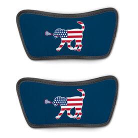 Girls Lacrosse Repwell® Sandal Straps - Patriotic Lula the Lax Dog