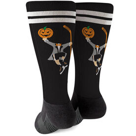 Hockey Printed Mid-Calf Socks - Headless Hockey