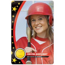 "Softball 18"" X 12"" Aluminum Room Sign - Player Photo"