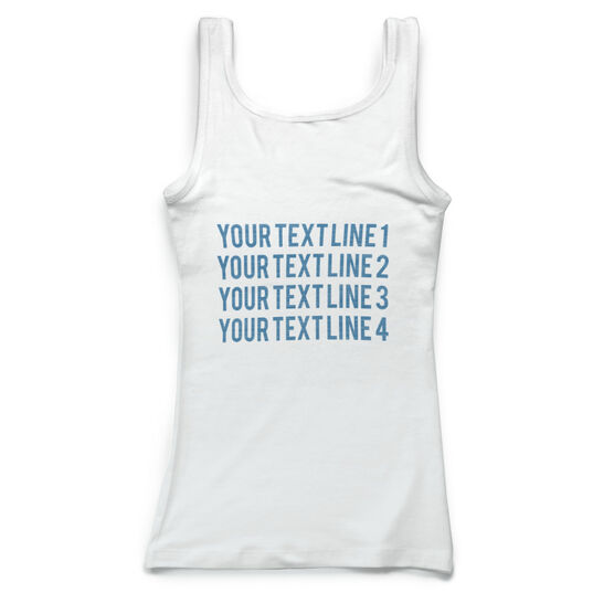 Figure Skating Vintage Fitted Tank Top - Typographic