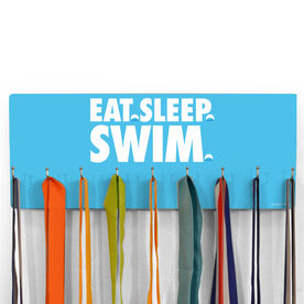 Swimming Hooked on Medals Hanger - Eat Sleep Swim
