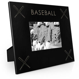 Baseball Engraved Picture Frame - Four Corners