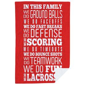 Lacrosse Premium Blanket - We Do Lacrosse