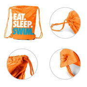 Swimming Sport Pack Cinch Sack Eat. Sleep. Swim.