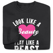 Tennis Crew Neck Sweatshirt - Look Like A Beauty Play Like A Beast