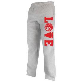 Cheerleading Fleece Sweatpants Love Cheer