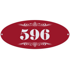 Personalized Indoor/Outdoor Oval Sign - Address sign