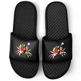 Lacrosse Black Slide Sandals - Maryland Crab