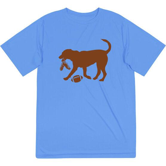 Football Short Sleeve Performance Tee - Flash The Football Dog