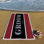 Personalized Premium Beach Towel - Groom Classic