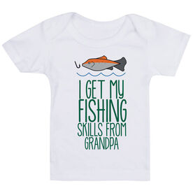 Fly Fishing Baby T-Shirt - I Get My Skills From