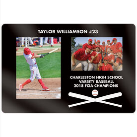 """Baseball 18"""" X 12"""" Aluminum Room Sign - Player and Team Photo"""