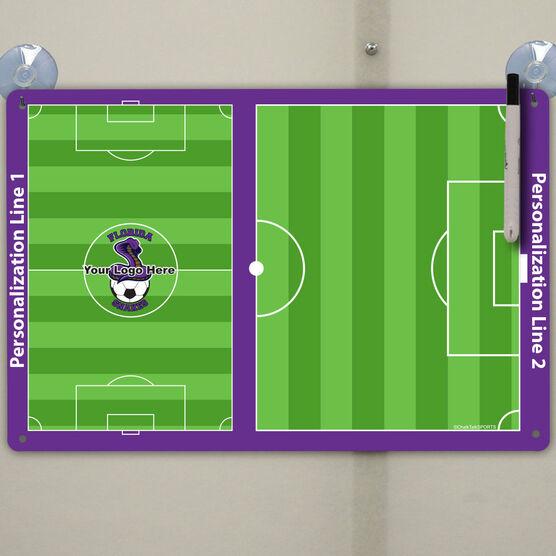 "Soccer Custom Dry Erase Coach Board Full And Half Field - 18"" X 12"""