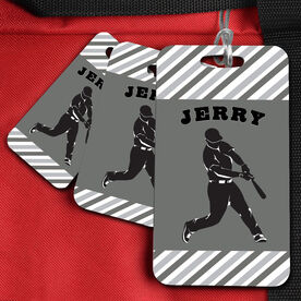 Baseball Bag/Luggage Tag Personalized Baseball Player Guy