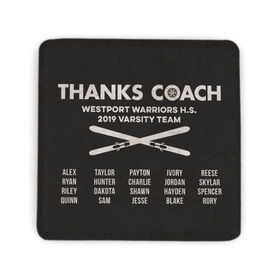 Skiing Stone Coaster - Thanks Coach Roster
