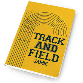 Track & Field Notebook Lanes