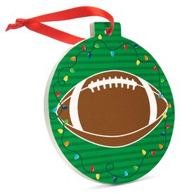 Football Round Ceramic Ornament - Football Graphic