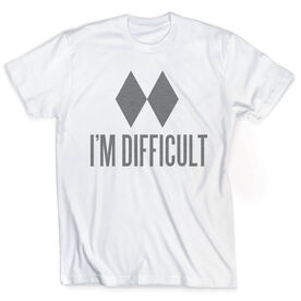 Skiing & Snowboarding Vintage T-Shirt - I'm Difficult