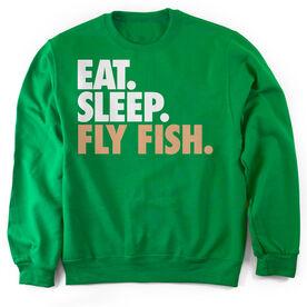 Fly Fishing Crew Neck Sweatshirt Eat. Sleep. Fly Fish.