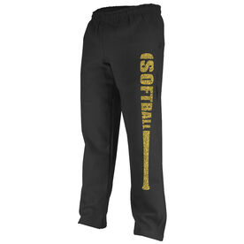 Softball Fleece Sweatpants Bat Softball